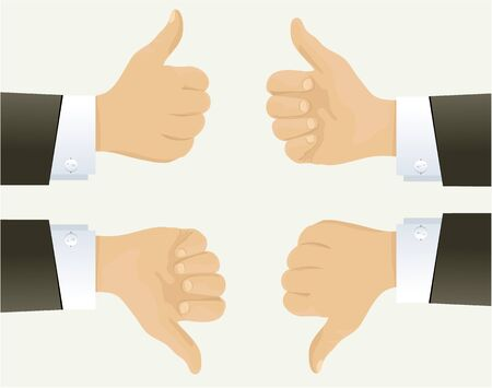 buisiness: Businessman hand showing okay sign Illustration