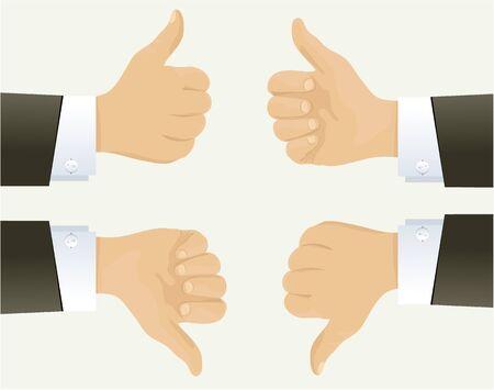 okay: Businessman hand showing okay sign Illustration