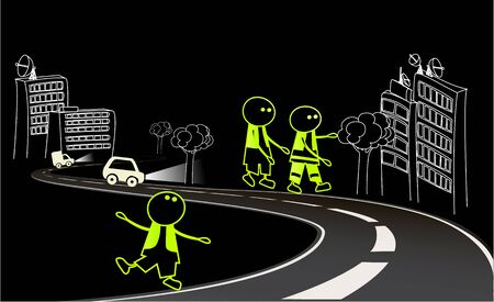 visible: Be visible on the road