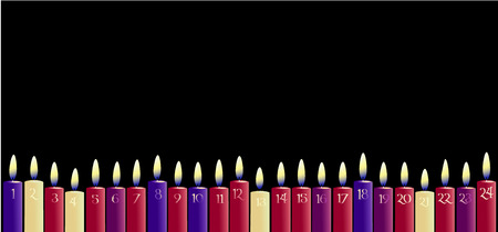 candle lights: Advent Calendar with candles Illustration