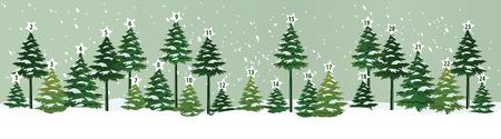 Advent calendar with Christmas tree