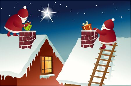 Santa Claus on roof
