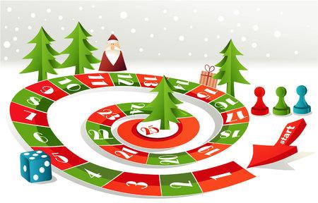 Advent calendar - Christmas board game 矢量图像