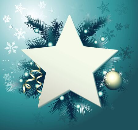 christmas star background: Christmas background with star frame