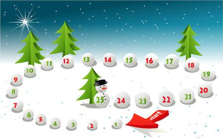 pawns: Advent calendar - Christmas board game Illustration