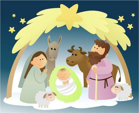 Natale, presepe con sacra famiglia