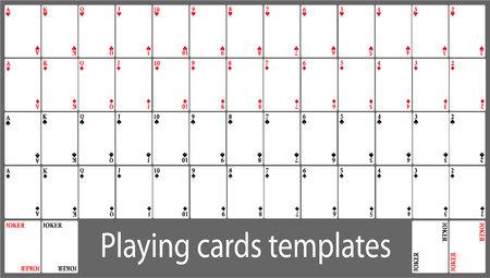 Playing cards template set 일러스트