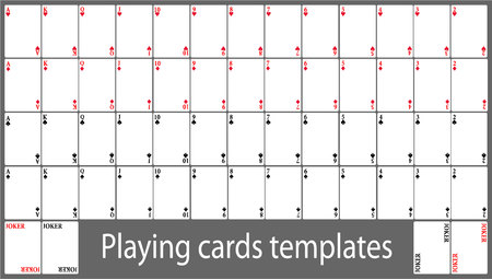 Playing cards template set Vectores