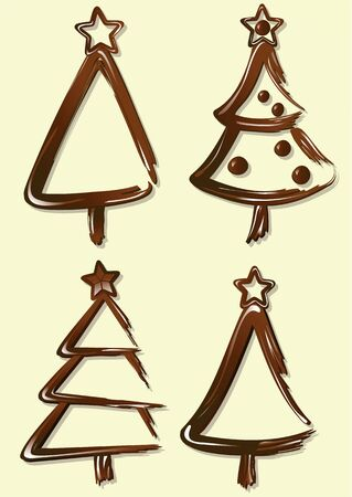 cioccolato natale: Sweet chocolate Christmas trees