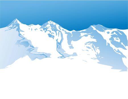 himalayas: Winter mountains