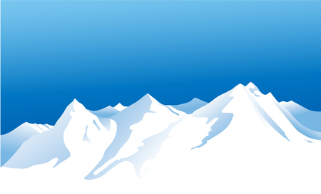winter mountains Illustration