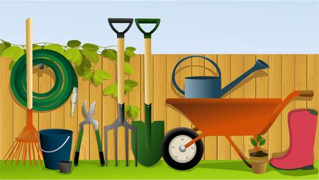 Set of garden tools Illustration