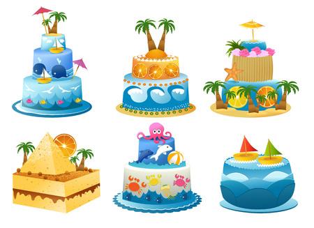 Vakantie verjaardagstaart
