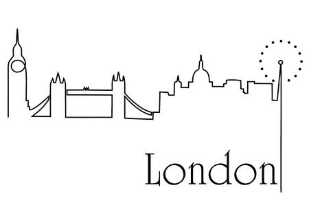 London city one line drawing Illusztráció