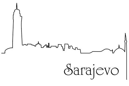 construction: Bosnias capital city illustration.