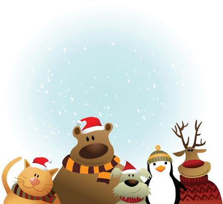 Personaje de dibujos animados de Navidad.