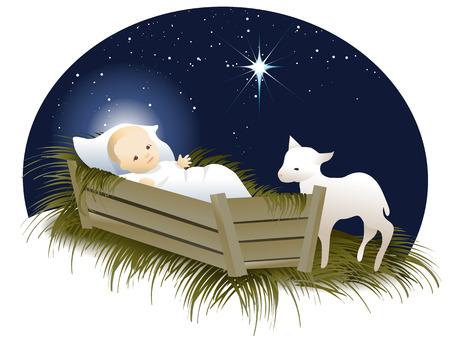 Jezus w łóżeczku