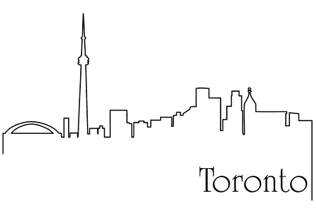 Toronto city one line drawing background