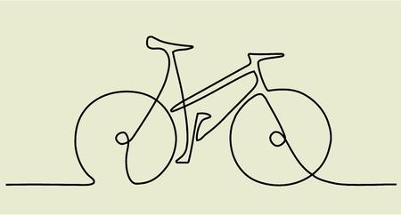 résumé un dessin de ligne avec vélo