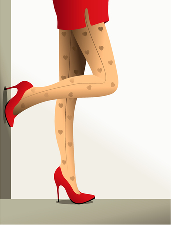 Valentine background with high-heeled shoes