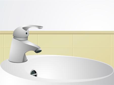 Bathroom interior with wash-hand basin