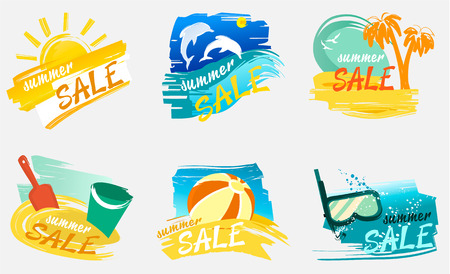 Summer sale banners with holiday design