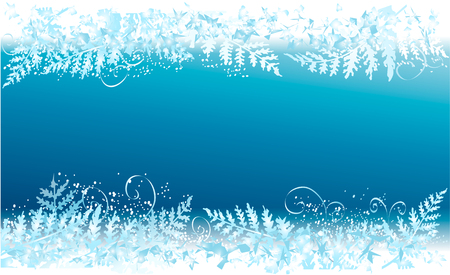 Cold winter background with frosted window