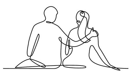 Amoureux un art de dessin au trait Vecteurs