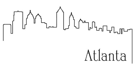 Atlanta city drawing line abstract Ilustração