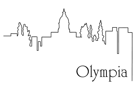 Olympia city drawing line abstract Illustration
