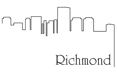 Richmond city one line drawing abstract