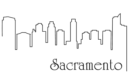 Sacramento city drawing line abstract
