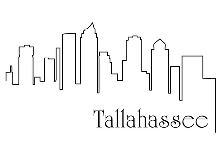 Tallahassee city one line drawing abstract