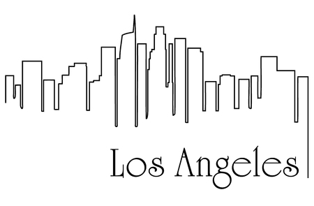 Los Angeles city drawing line abstract