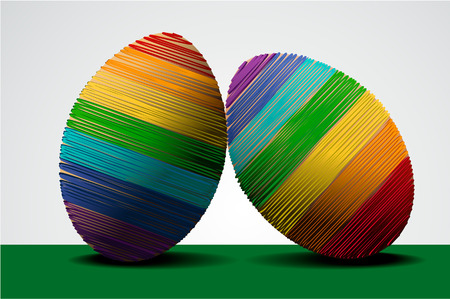 Easter holiday  with rainbow eggs