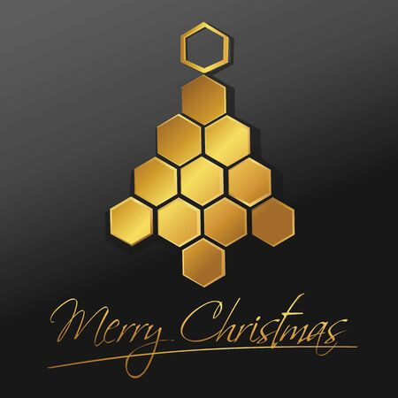 Christmas tree honeycomb design - holiday background