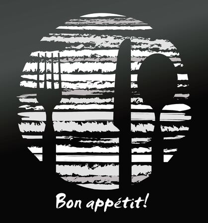Abstract restaurant design  in black and white