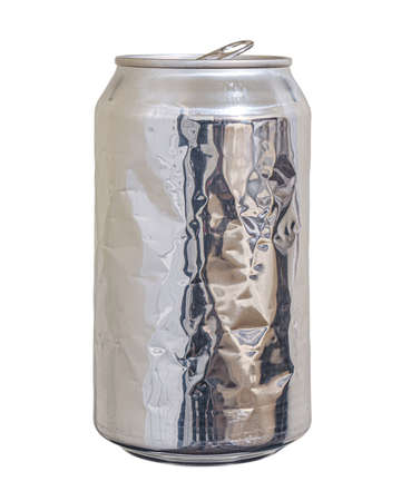 Used and Crumpled Soda Can, Recycling and Reducing Waste and Garbage