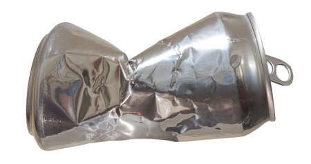 Used, Crushed Soda Can, Recycled Food Packaging