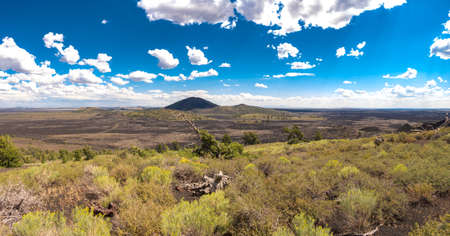 Huge Beautiful Nonactive Volcanic Landscape, Craters of the Moon