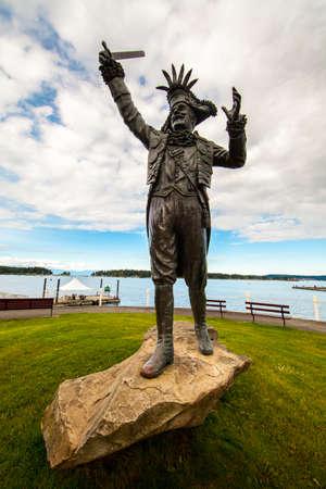 Happy pirate monument
