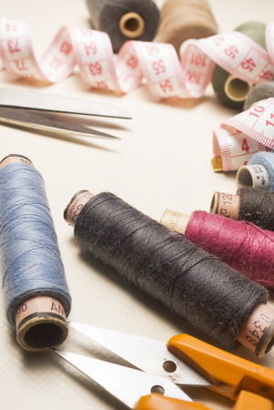 tailoring: Tailor, tailoring, clothes designer work concept. High resolution image. Stock Photo