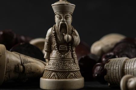 アジアのチェスの駒。高解像度イメージ コンセプト。