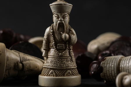 Asian chess pieces. High Resolution image concept.
