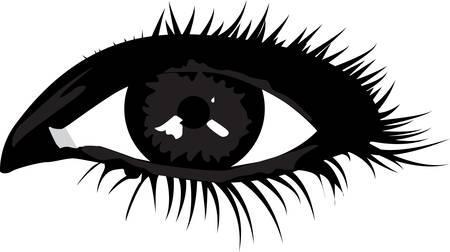 smoky eyes: Smoky eye Illustration