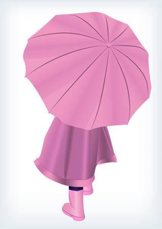 Baby with unbrella Vector