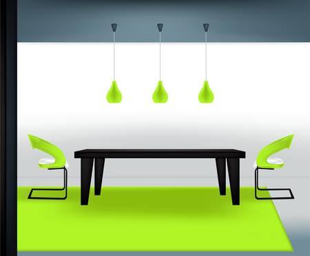 Comedor moderno  Ilustración de vector