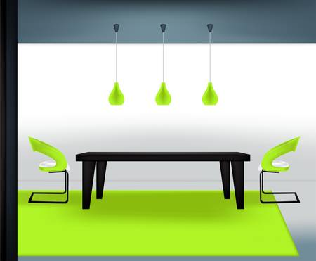 table decoration: Modern dining room