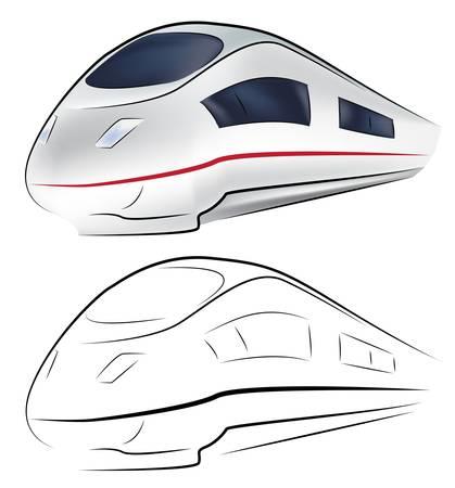 fast train: Superfast train Illustration