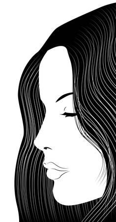 girl profile Stock Vector - 9450949